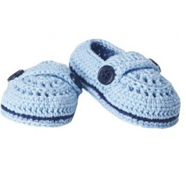 Woven Blue Moccassins Sandals