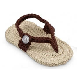 Woven Chocolate Sandals