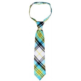 Yellow Blue Plaid Boys Tie
