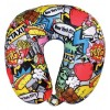 NYC Pop Art Neck Pillow