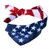 Patriotic Red White Blue U.S. Flag Bandana