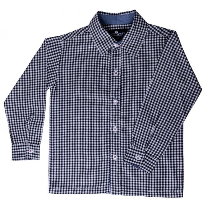 Black And White Gingham Boys Dress Shirt