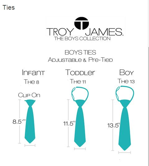 Troy James Boys Size Chart 2